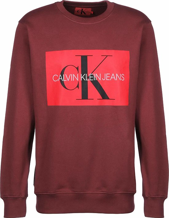 SWEAT MONOGRAM BOX LOGO REG CREW NECK