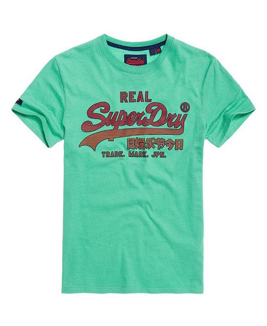 T-Shirt Semi-Épais Délavé Avec Logo Vintage