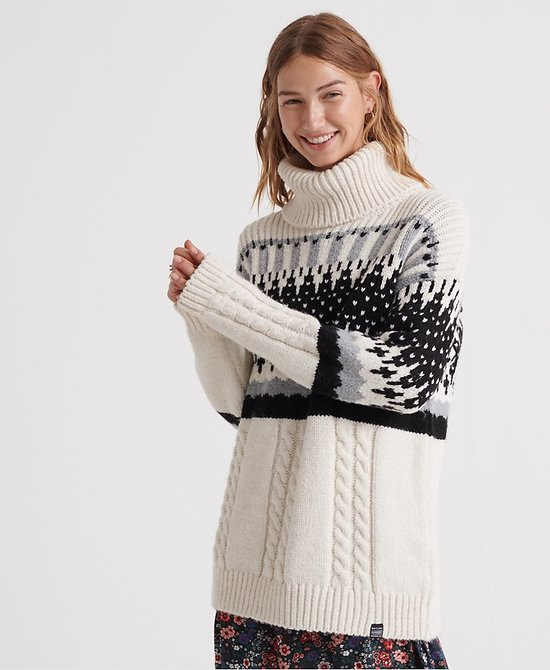 Pull En Maille Ample Gia Intarsia