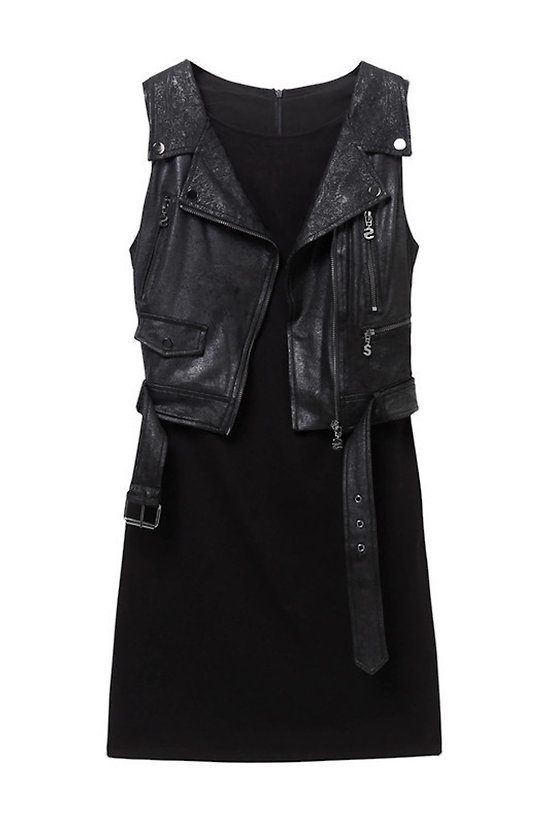 ROBE LONDON EN SIMILI CUIR