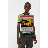 Pull patchwork africain