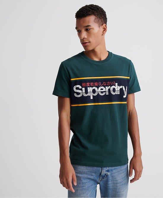 T-Shirt À Rayures Et Logo Core