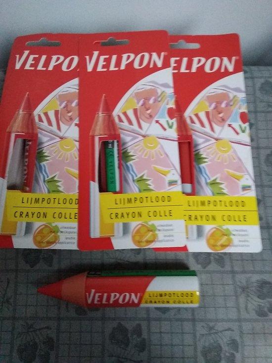 lot de 3 crayons de colle transparent velpon