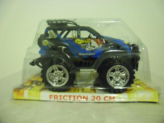 voiture friction 20 cm bleu encore sous blister