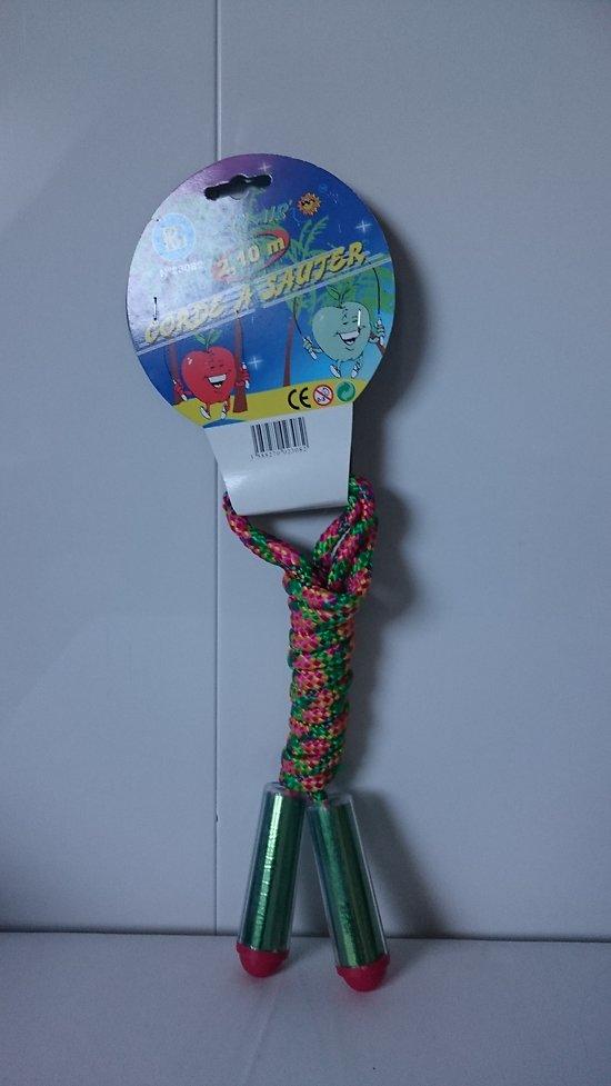 Corde a sauter multi-couleurs 2.50 m jamais utilisée