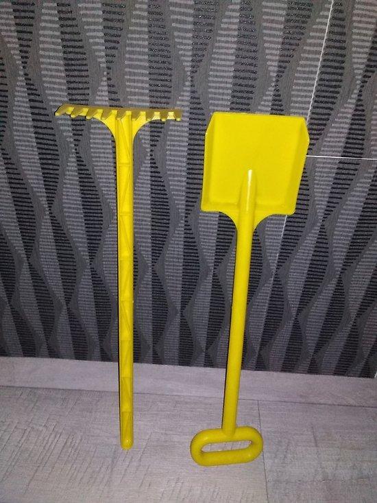 Doublette pelle et râteau jaune
