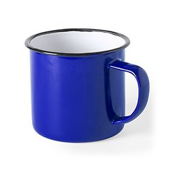 Tasse vintage métal 350 ML bleu