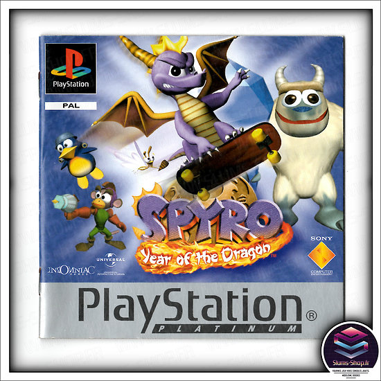 PS1 : Spyro 3 Year of the dragon Platinum