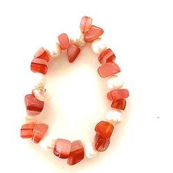 Bracelet agate rouge