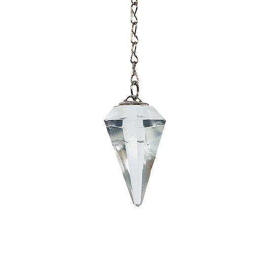 Pendule cristal à facette