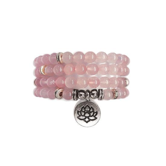 Sautoir quartz rose