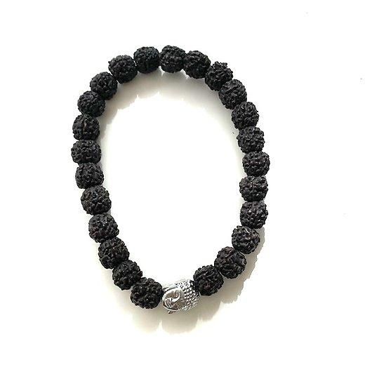Bracelet noir Rudraksha