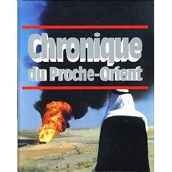 Chronique du Proche-Orient, Editions Chronique 1995