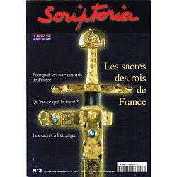 Les sacres des Rois de France, Scriptoria N° 3, octobre-novembre 1998.