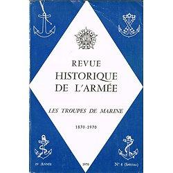 Les troupes de Marine 1870-1970, Revue historique de l'Armée, N° 4 spécial, 1970.