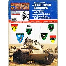 L'arme blindée israélienne, Connaissance de l'Histoire N° 20, Hachette janvier 1980.