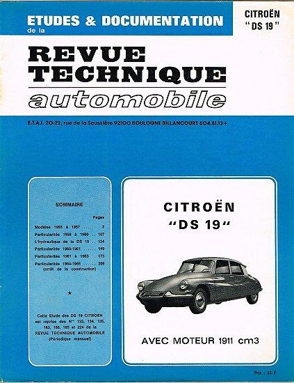 Etudes et documentation, Citroën DS 19, Revue technique automobile 1977.