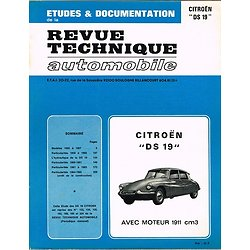 Etudes et documentation, Citroën DS 19, Revue technique automobile 1977.