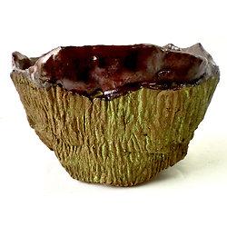Pot pour bonsaï cascade ou semi-cascade, plante succulente ou cactus