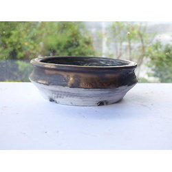 Pot rond en porcelaine pour bonsaï mame, plante d'accent, kusamono, cactus, plante succulente...