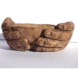 L'offrande, pot sculpture pour bonsaï, cactus ou plante suculente