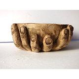 """Pot sculpture """"série l'offrande"""", pour cactus, plante succulente, bonsaï ou décoration"""