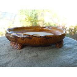 Pot rond très plat pour bonsaï mame ou shohin
