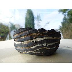 Coupelle  en grès pouvant servir pour ikebana, vide poche.....