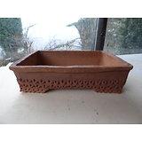 Pot rectangulaire pour bonsaï ou composition de plantes