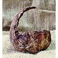 """Pot """"coquille"""" (crescent pot) pour bonsaï mame, Kusamono, cactus ou plante succulente"""