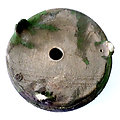 Pot rond craquelé rustique pour bonsaï, cactus, caudex ou succulente
