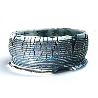 Pot en porcelaine craquelée pour bonsaï, cactus ou plante succulente