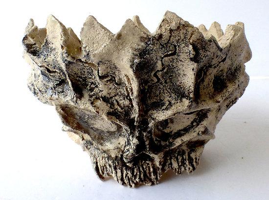 """Pot """"crâne"""" pour bonsaï shohin, cactus, caudex ou plante succulente"""