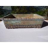 Pot en grès pour bonsaï, ou composition de cactus ou plantes succulentes