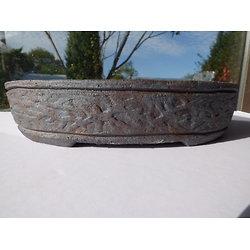Pot en grès pour bonsaï ou composition de cactus ou plantes succulentes