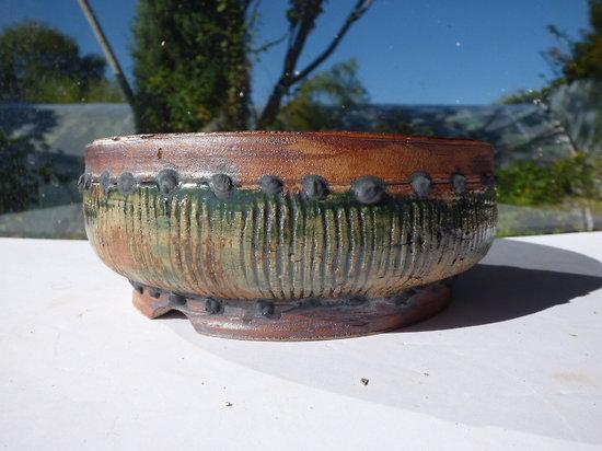 Pot en grès pour bonsaï, cactus ou plante succulente