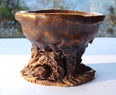 Pot pour bonsaï mame cascade, kusamono, cactus ou plante succulente