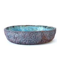 Plat en grès pouvant servir de vaisselle, de vide poche, ou pour Ikebana