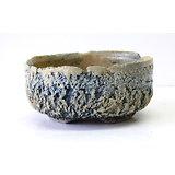 Pot rond craquelé pour bonsaï mame, kusamono, cactus ou plante succulente
