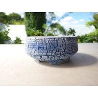Pot en porcelaine pour bonsaï mame, kusamono cactus ou plante succulente
