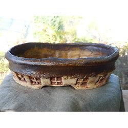 Pot ovale pour bonsaï, cactus ou plante succulente