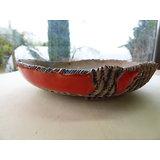 Pot rond rouge pour bonsaï ou composition de plantes
