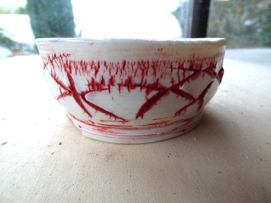 Pot en porcelaine pour kusamono, bonsaï mame, cactus ou plante succulente