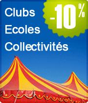 Clubs, Ecoles, Collectivités : -10%