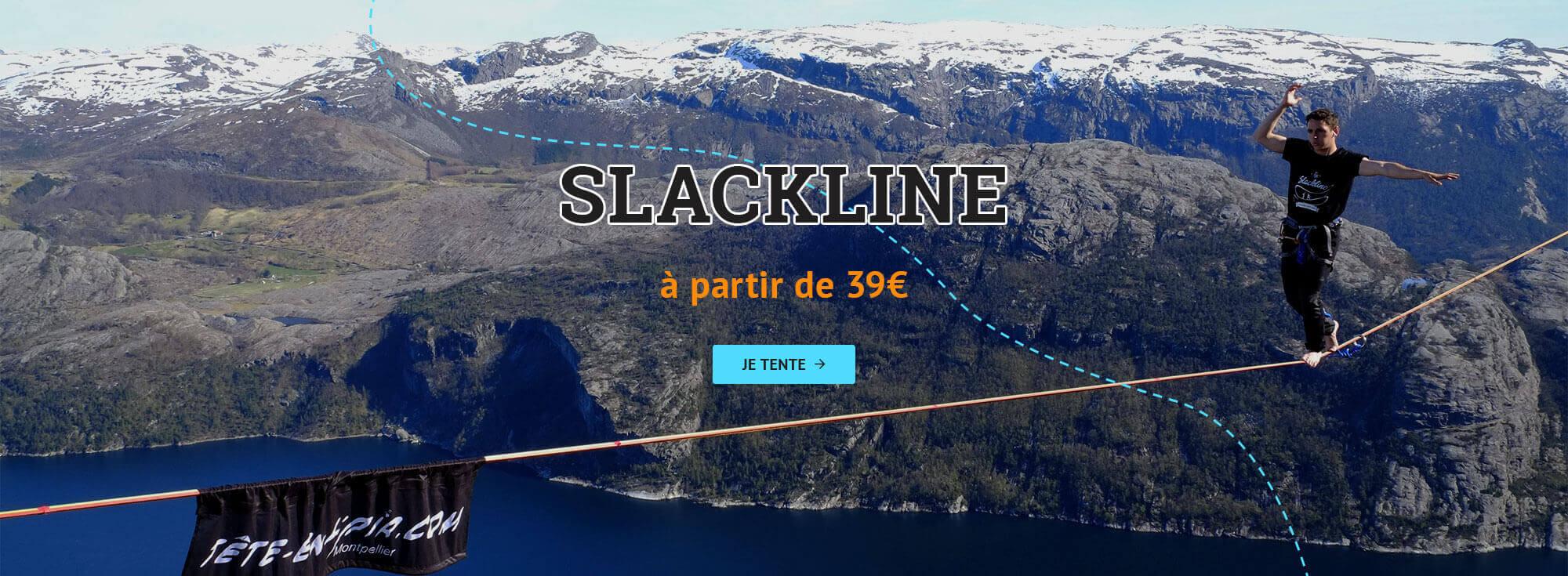 Slackline - Tentez l'équilibre à partir de 39 euros