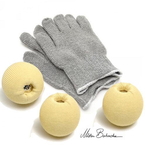 Set balles feu avec gants