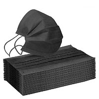 Lot de 10 masques jetables noir adulte