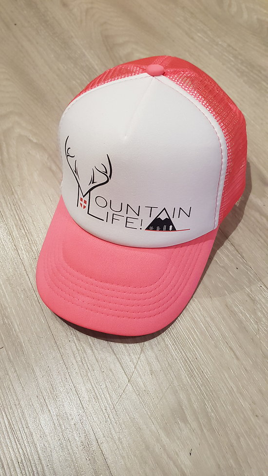 CASQUETTE MOUNTAIN LIFE ROSE