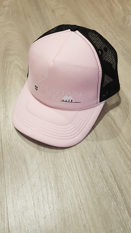 CASQUETTE MOUNTAIN LIFE ROSE PALE