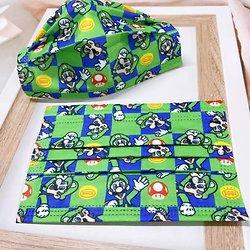 Lot de 10 masques jetables Luigi pour enfant